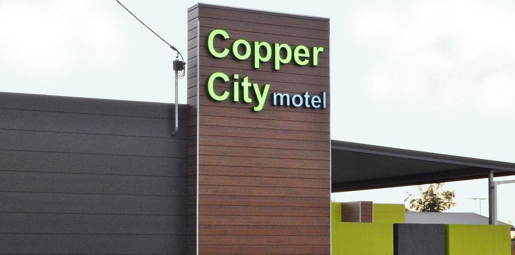 Front of the Copper City Motel, Mt Isa